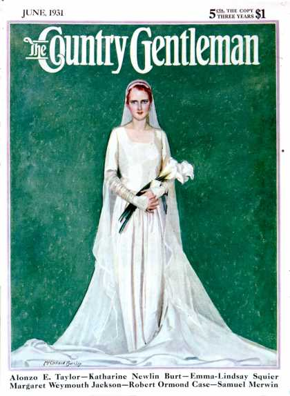 Country Gentleman - 1931-06-01: Bride with Calla Lilies (McClelland Barclay)
