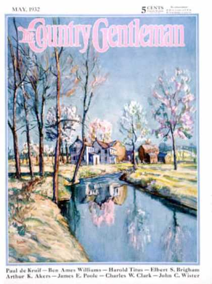 Country Gentleman - 1932-05-01: Landscape of Farm in Springtime (Baum)