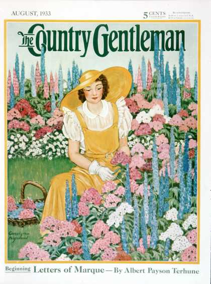 Country Gentleman - 1933-08-01: Cutting Flowers from Her Garden (Carolyn Haywood)