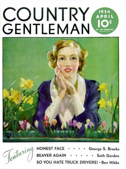Country Gentleman - 1934-04-01: Woman and Spring Flower (Unknown)