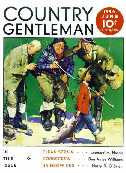 Country Gentleman - 1934-06-01: Cane Pole Catch (WM. Meade Prince)