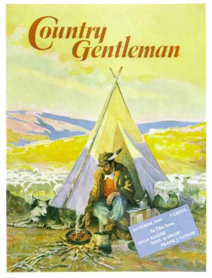 Country Gentleman - 1940-10-01: Camping Near Sheep (Unknown)