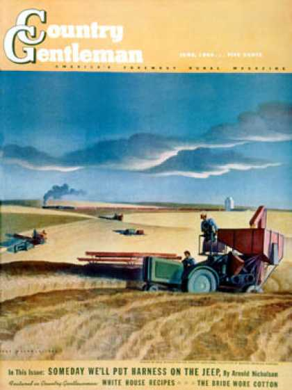 Country Gentleman - 1942-06-01: Wheat Harvest (Dale Nichols)