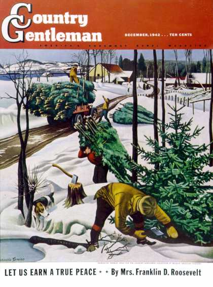 Country Gentleman - 1942-12-01: Harvesting Christmas Trees (Francis Chase)