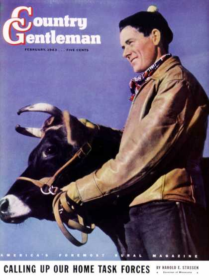 Country Gentleman - 1943-02-01: Prize Steer (Salvadore Pinto)