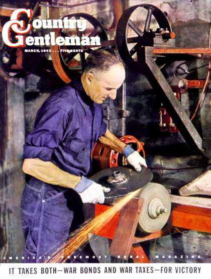 Country Gentleman - 1943-03-01: Sharpening a Disc (L.S. Willis)