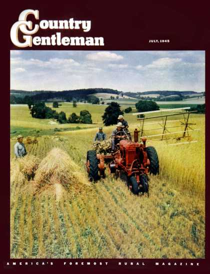 Country Gentleman - 1945-07-01: Wheat Harvest (F.P. Sherry)
