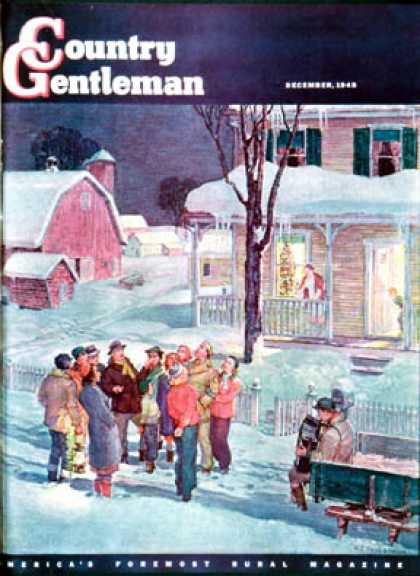Country Gentleman - 1945-12-01: Christmas Carollers (Henry Soulen)