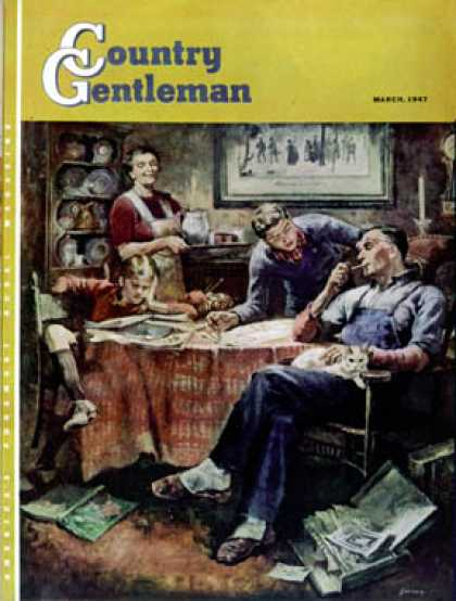 Country Gentleman - 1947-03-01: Around the Table after Dinner (Herman Geisen)