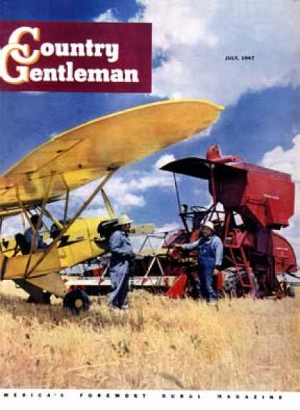 Country Gentleman - 1947-07-01: Crop Duster and Tractor (Alex Martin)