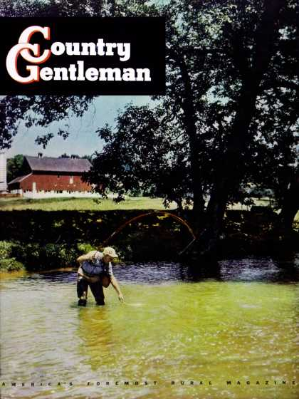 Country Gentleman - 1949-06-01: Fishing in Farm Stream (F.P. Sherry)
