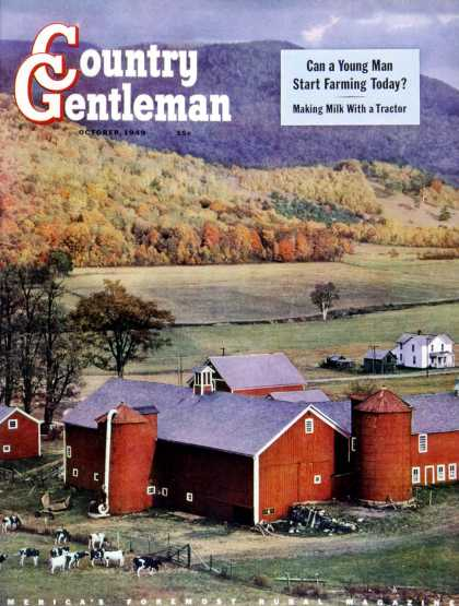 Country Gentleman - 1949-10-01: Red Barns & Silos (W.C. Griffith)