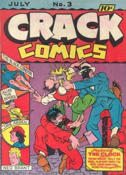 Crack Comics 3 - The Black Condor - The Spider - Ned Brant - Jane Arden - The Clock