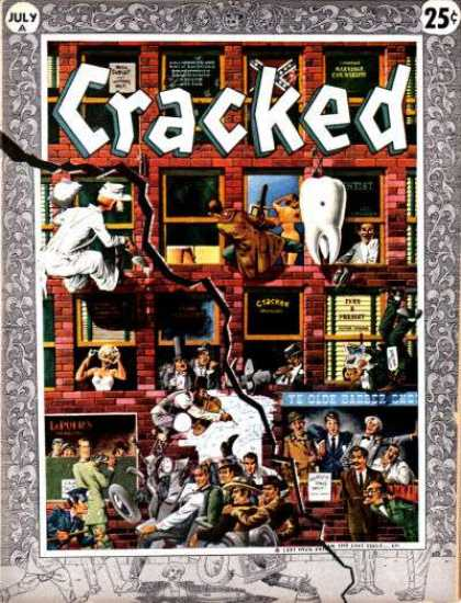 Cracked 3 - Tooth - July Issue - 25 Cents - Wheel - Crowd