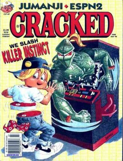 Cracked 308 - Hat - Killer - Arcade - Game - Sliced - John Severin