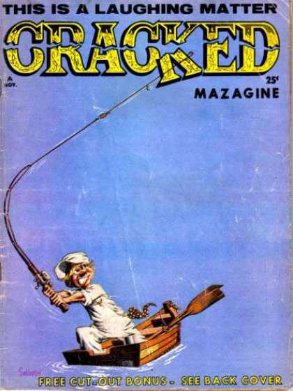 Cracked 32 - This Is A Laughing Matter - Fishing Pole - Canoe - White Hat - White Shirt