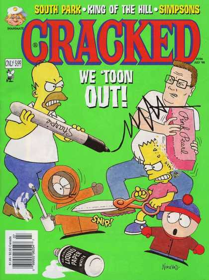 Cracked 326 - South Park - King Of The Hill - Simpsons - We Toon Out - Sharpie