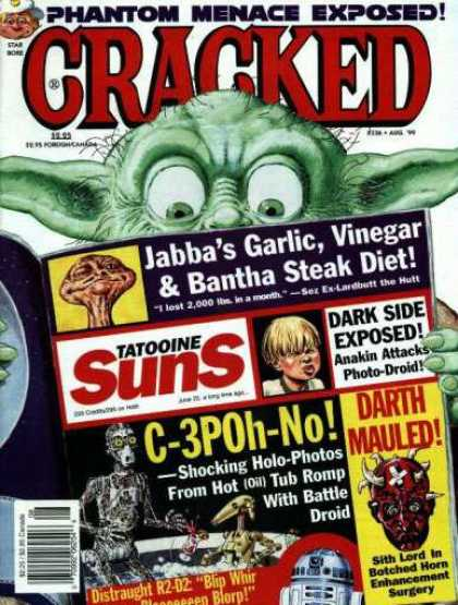Cracked 336 - Yoda - Star Wars - Tabloid - Funny - C3po