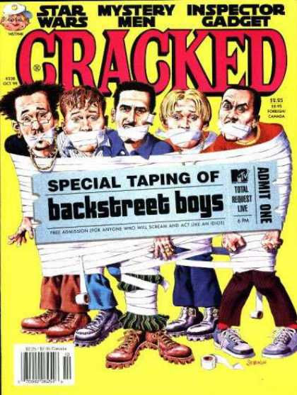 Cracked 338 - Backstreet Boys - Star Wars - Mystery Men - Inspector Gadget - Man