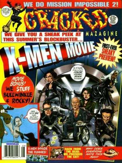 Cracked 346 - X-men - Professor X - Storm - Cyclops - Jean Gray