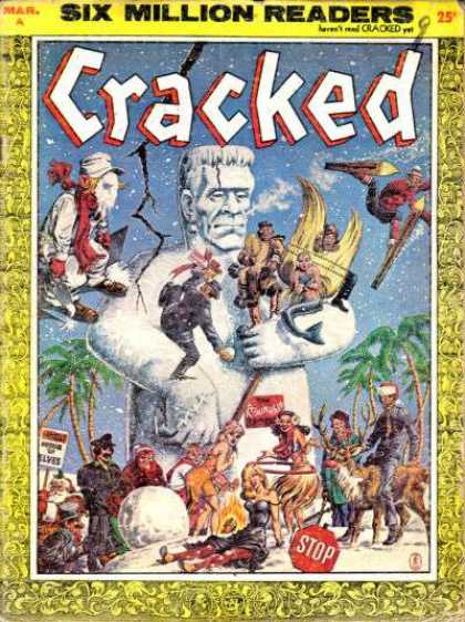 Cracked 8 - Snow - Mermaid - Skiing - Frankenstein - Hula Girl