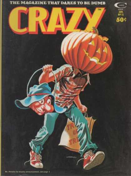the marvel humor magazine crazy had quite a few horror themed issues as did mad but the kids mag cracked wins the prize for having the most - Halloween Magazines