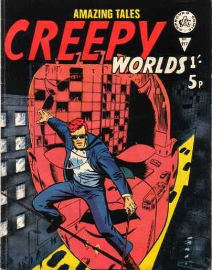 Creepy Worlds 117 - Amazing Tales - Man - Approved Comics - Business Suit - Sunglasses