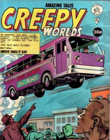 Creepy Worlds 186 - Flying Bus - Pointing - Creepy Wolds - Crowd - Passengers