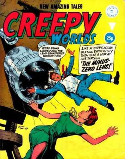 Creepy Worlds 213 - Lens - Time - Transported - Mystery - Action