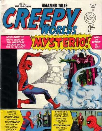 Creepy Worlds 69 - Amazing Tales - Spiderman - Cloud Of Smoke - The Fight - The Greatest Villian Of All
