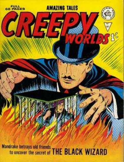 Creepy Worlds 87 - The Black Wizard - Mandrake - Secret - Cage - Fire