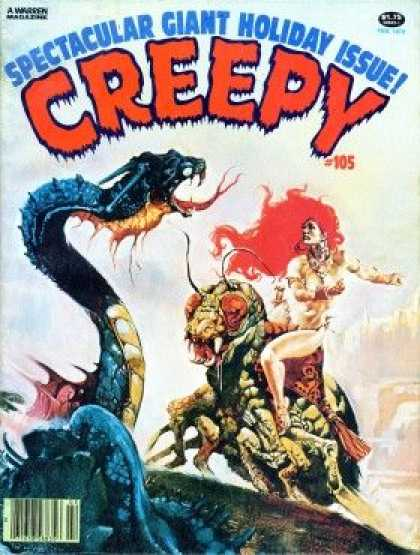Creepy 105 - A Warren - Monster - Woman - Snake - Spectacular Giant Holiday Issue
