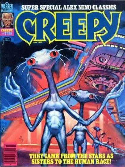 Creepy 119 - Alex Nino - Aliens - Space Ship - Super Special Classics - Human Race