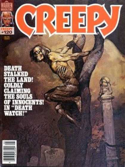Creepy 120 - Death - Fear - Warren Magazine - American Horror - Cemetary