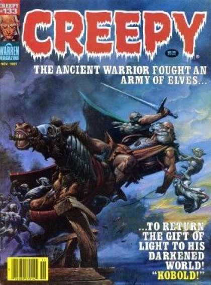 Creepy 133 - Ancient Warrior - Army Of Elves - Sword - Horse - Kobold