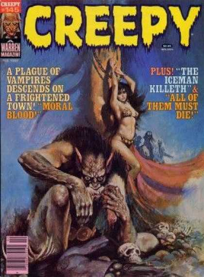 Creepy 145 - Moral Blood - Creefy - Warren Magazine - Vampires - The Iceman Killeth