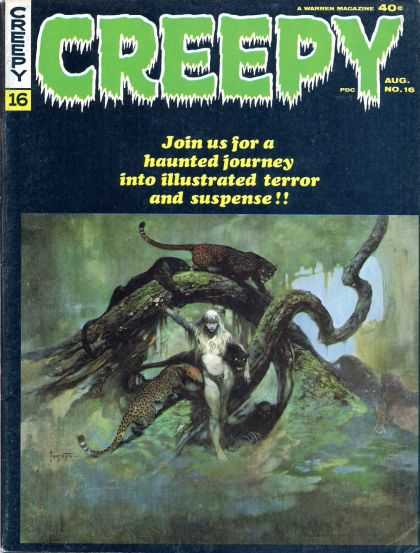 Creepy 16 - Panther - Real Suspense - Creamy One - Haunted Journey - Melted Hour - Gray Morrow