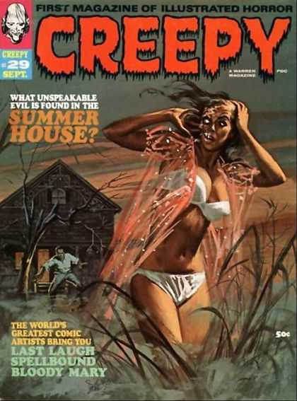 Creepy 29 - What Unspeakable Evil Is Found In The Summer House - One Young Men - The Worlds Greatest Comic Artist Bring You - Last Laugh Spell Bound Bloody Mary - Forest