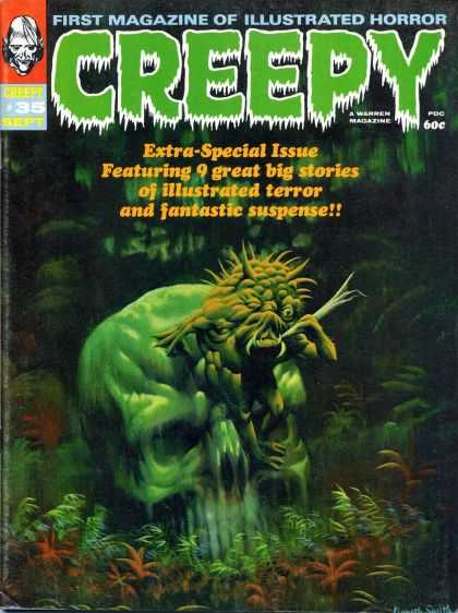 Creepy 35 - First Magazine Of Illustrated Horror - Greepy - Extra Special Issue - Green Skull - A Warren Magazine
