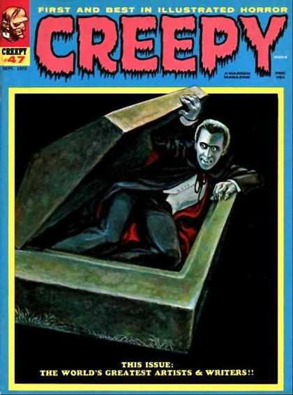 Creepy 47 - Coffin Bed - Dracula - Vampire Awakens - Bloodsucker - Black Cape With Red On The Inside