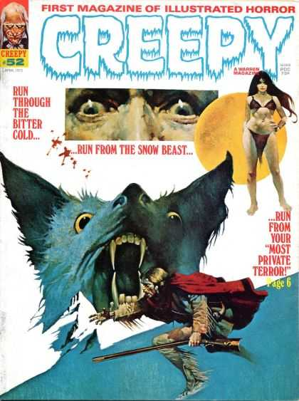 Creepy 52 - Wolf - Horror - Terror - Snow Beast - Bitter Cold