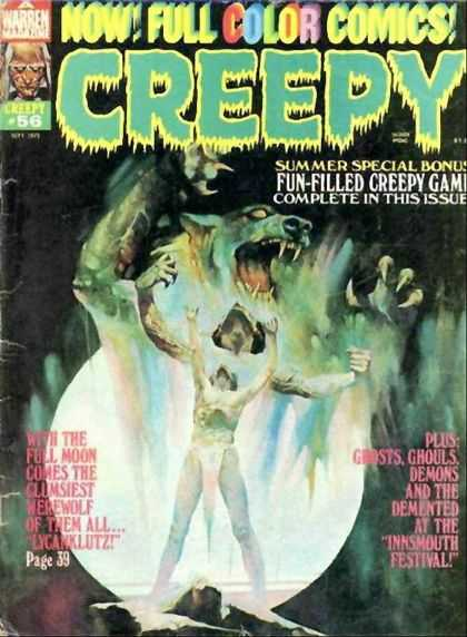 Creepy 56 - Full Color Comics - Lycanklutz - Ghosts - Full Moon - Ghouls