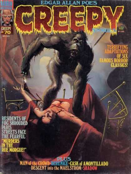 Creepy 70 - Ravage Ape - Frightmare Dreams - Bedside Tales Of Terror - Murdering Monkey Masacures Maiden - Spooky Bumps In The Night