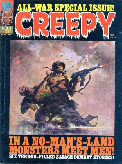 Creepy 89 - Gun - All-war Special Issue - Six Terrors - Monsters - Filled Savage Combat Stories