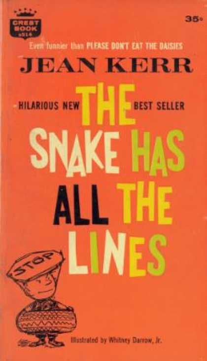 Crest Books - The Snake Has All the Lines - Jean Kerr