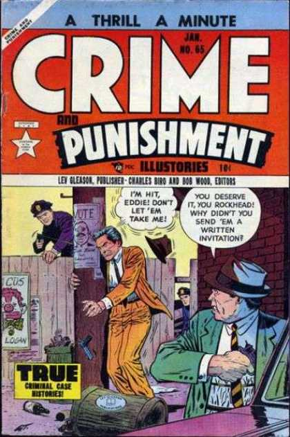 Crime and Punishment 65 - Policeman - Telephone Pole - Fence - Gun - True Criminal Case Histories