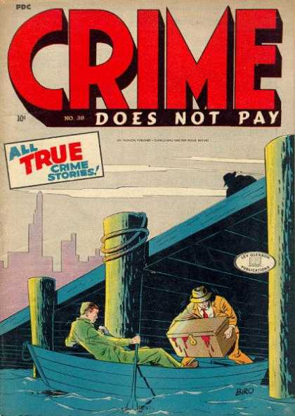 Crime Does Not Pay 39 - Crime Stories - True Storeis - Boat - Box With Blook - Pier