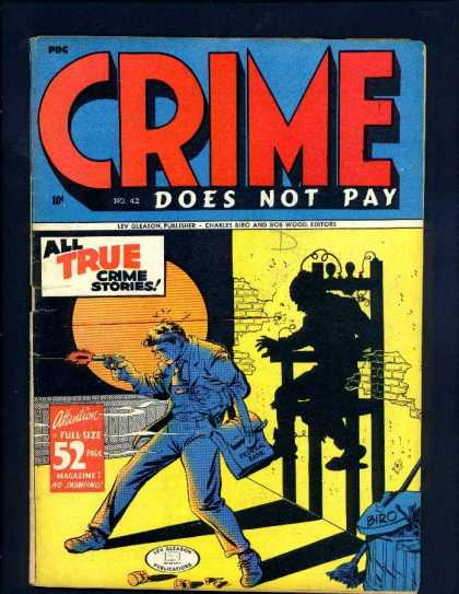 Crime Does Not Pay 42 - Shadow Play - True Stories - Gleason Publisher - Wood Editor - Man With A Gun