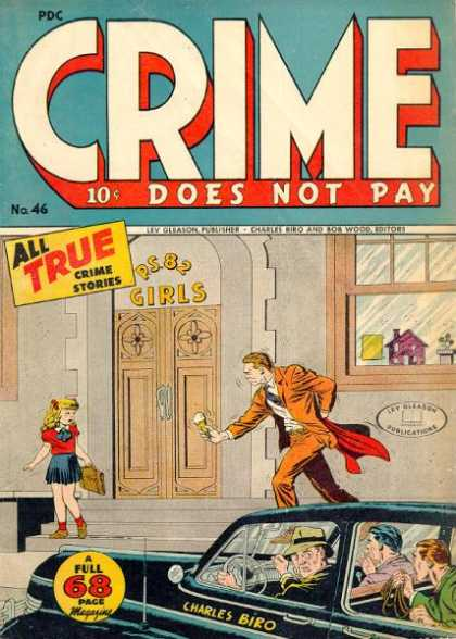 Crime Does Not Pay 46 - Ps 82 Girls - Little Girl - Ice Cream Cone - Window - Car