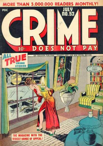 Crime Does Not Pay 53 - Window - Mirror - Plant - Red Robe - Moon